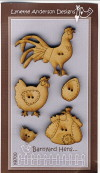 Barnyard Hens Button Set