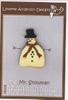 Mr. Snowman Button